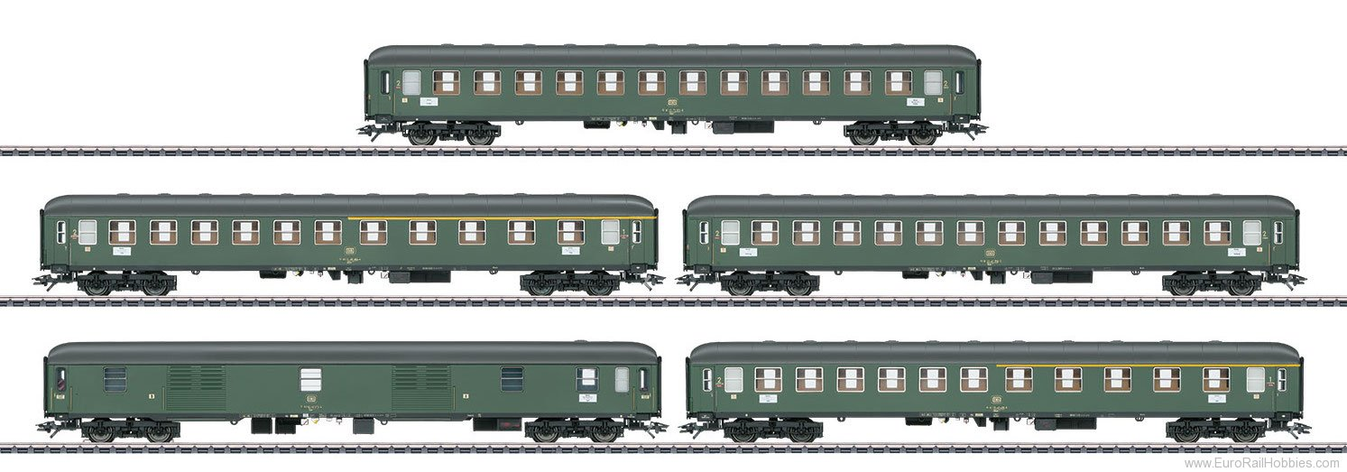 Marklin 42918 DB Express Train Passenger 5-Car Set for D 36