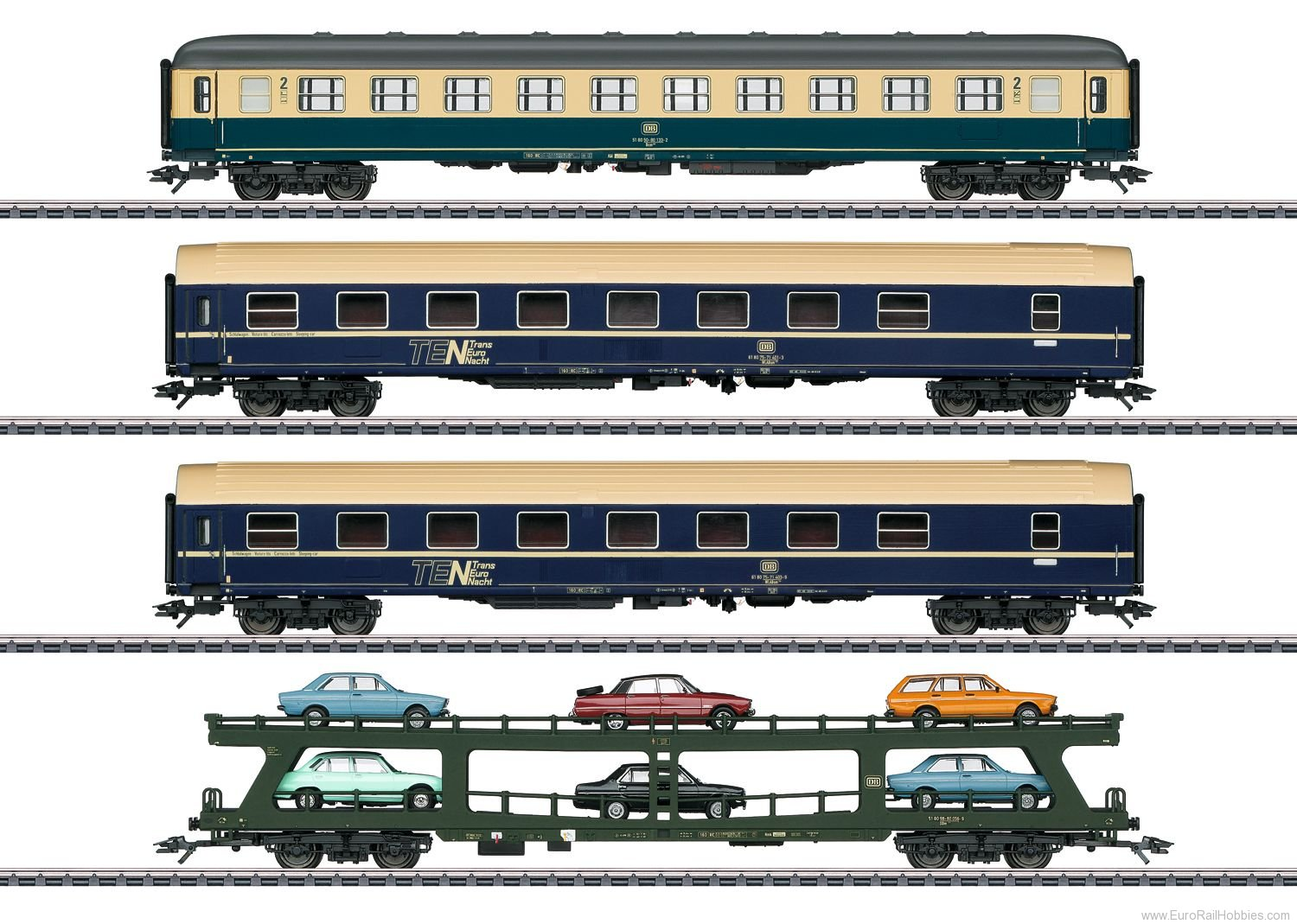 Marklin 42999 DB 'Auto Train' Car Set (MHI Exclusive 2/2018