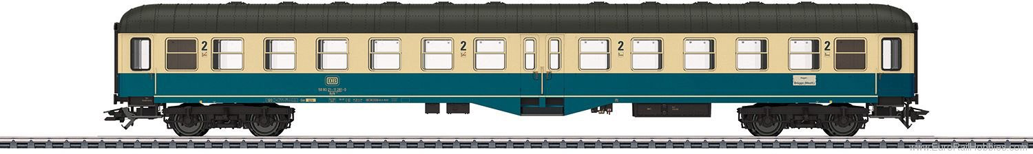 Marklin 43165 DB Centre Entry Passenger Car, 2nd Class