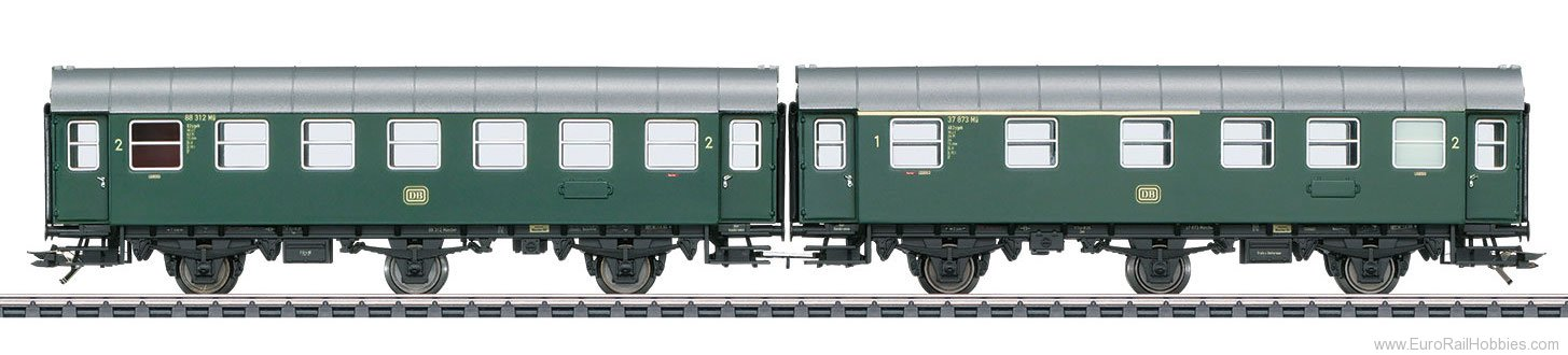 Marklin 43173 DB Pair of Passenger Cars, Type AB3ygeb with