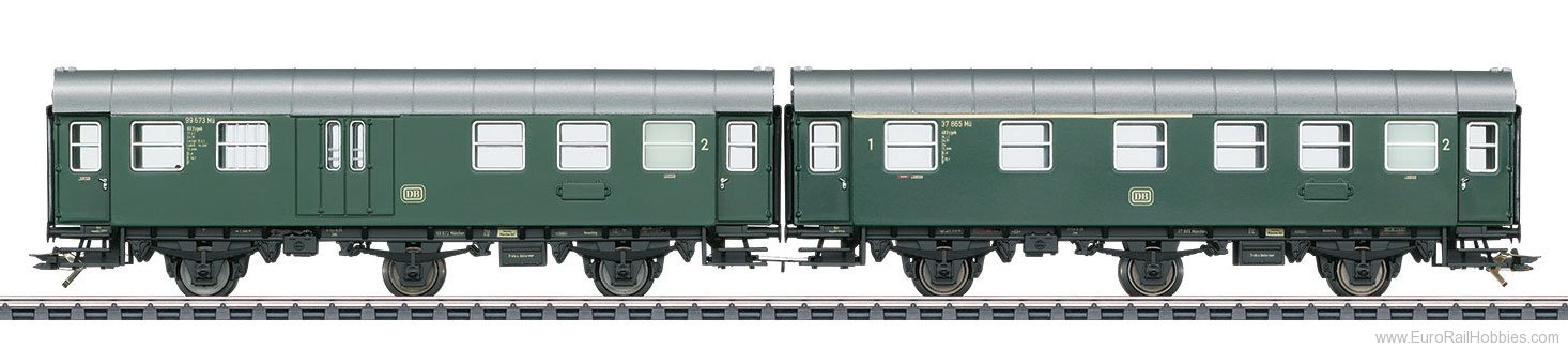 Marklin 43193 DB Pair of Passenger Cars, Type AB3ygeb with