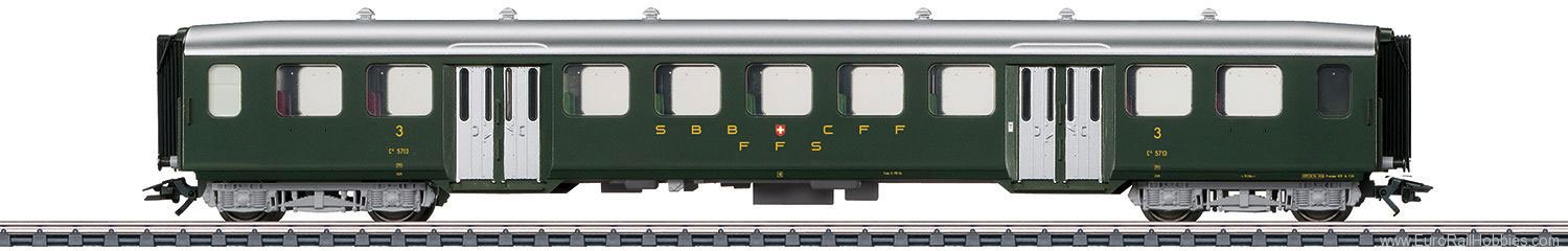 Marklin 43372 SBB Lightweight Steel Passenger Car, 3rd Clas