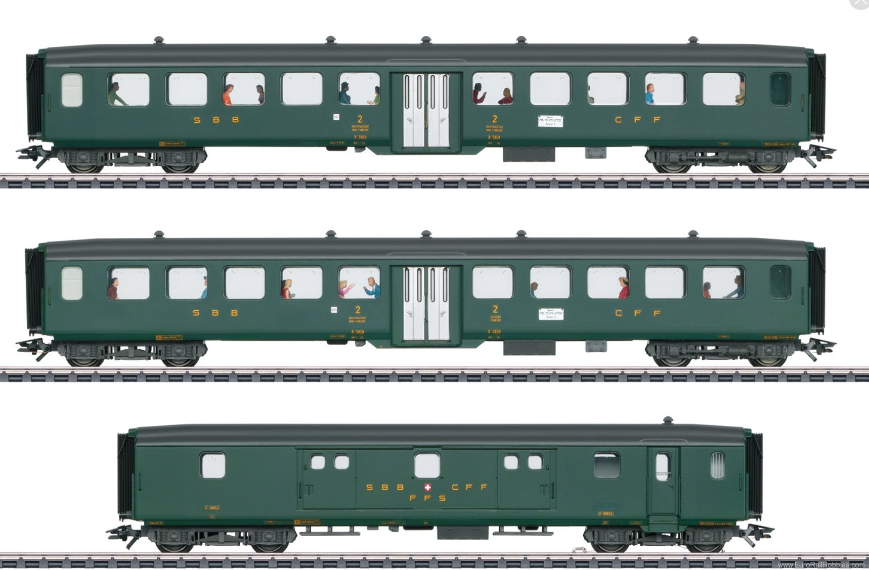 Marklin 43385 D96 Isar-Rhine Express Train Passenger Car Se