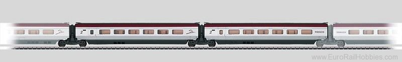 Marklin 43434 Add-On Car Set 2 for the THALYS PBKA