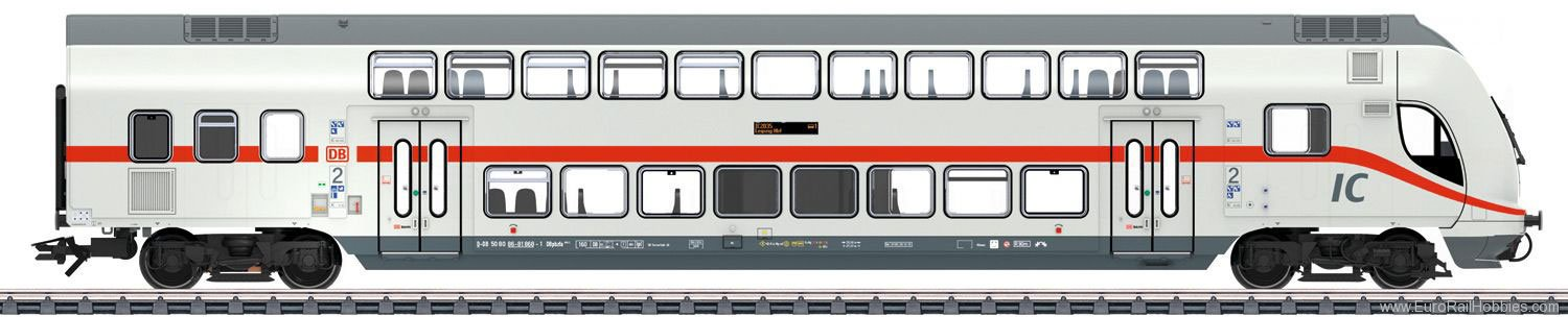 Marklin 43483 DB AG IC2 Bi-Level Cab Control Car, 2nd Class