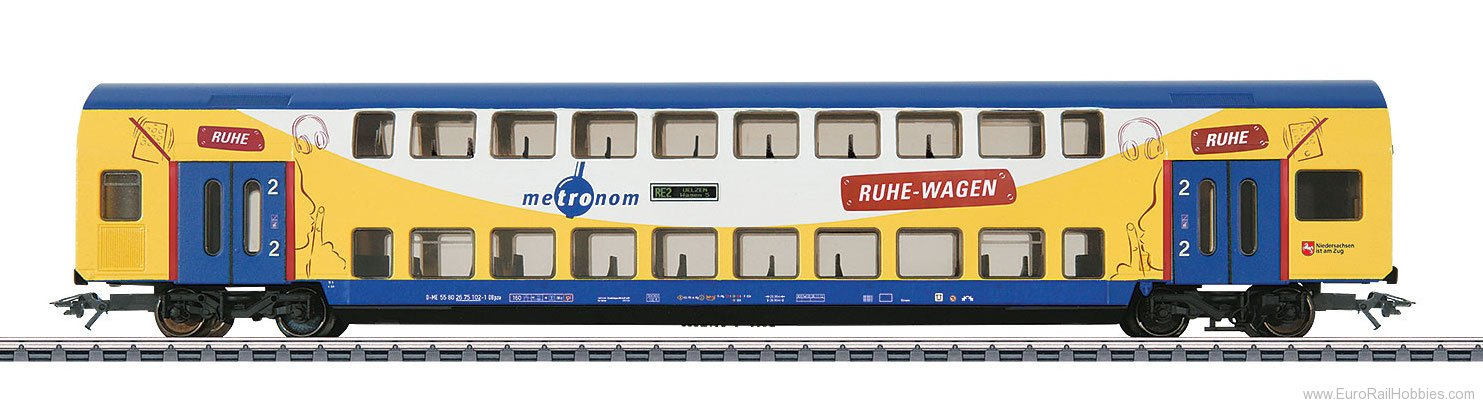 Marklin 43572 'metronom' Bi-Level Add-On Car
