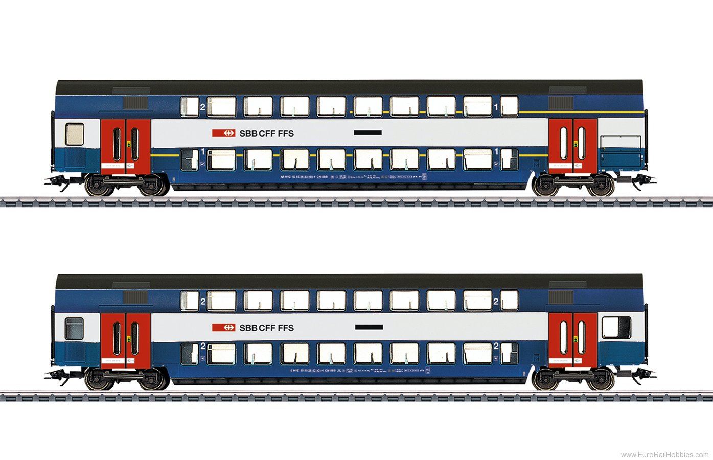 Marklin 43574 SBB 'Zurich S-Bahn' Bi-Level Car Set