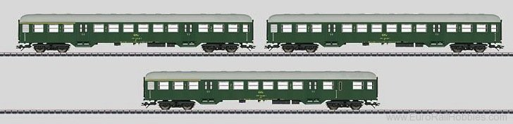 Marklin 43813 CFL 'Silberling' Commuter Car Set