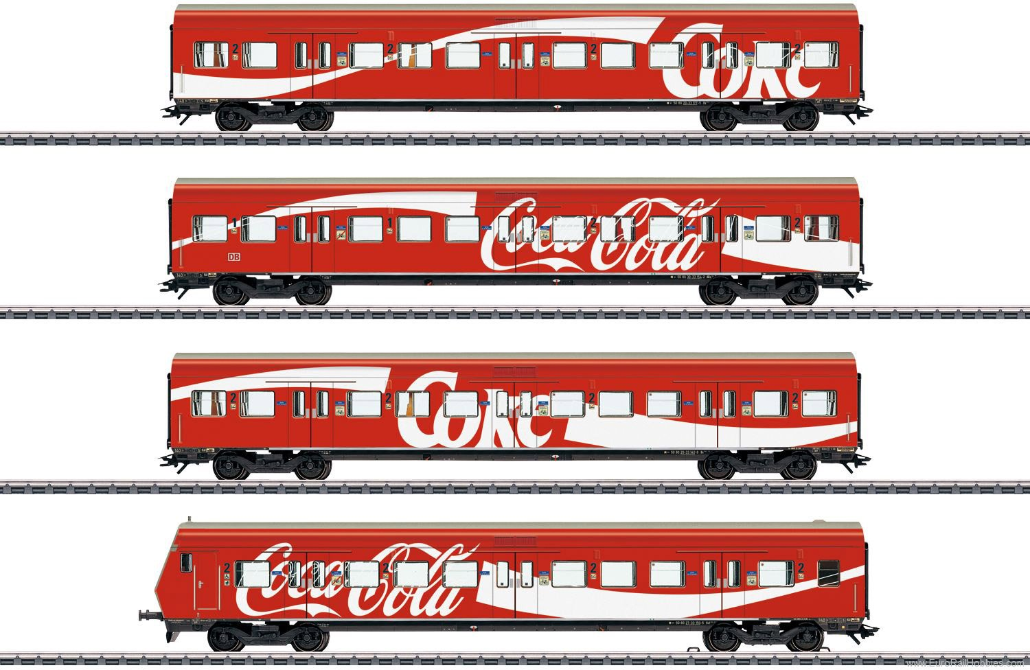 Marklin 43890 S-Bahn Passenger Car Set 'Coca-Cola' Advertis