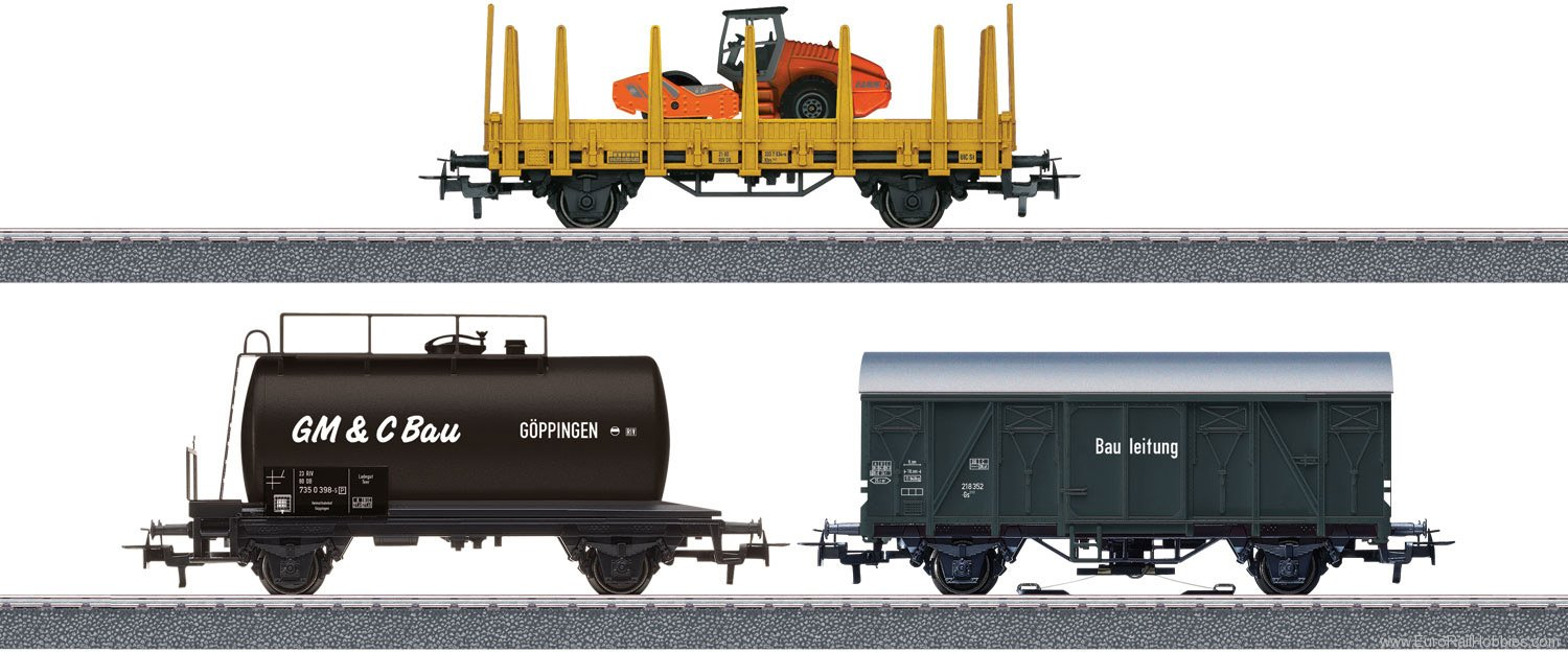"Marklin 44083 ""Construction Site"" Freight Car Set"