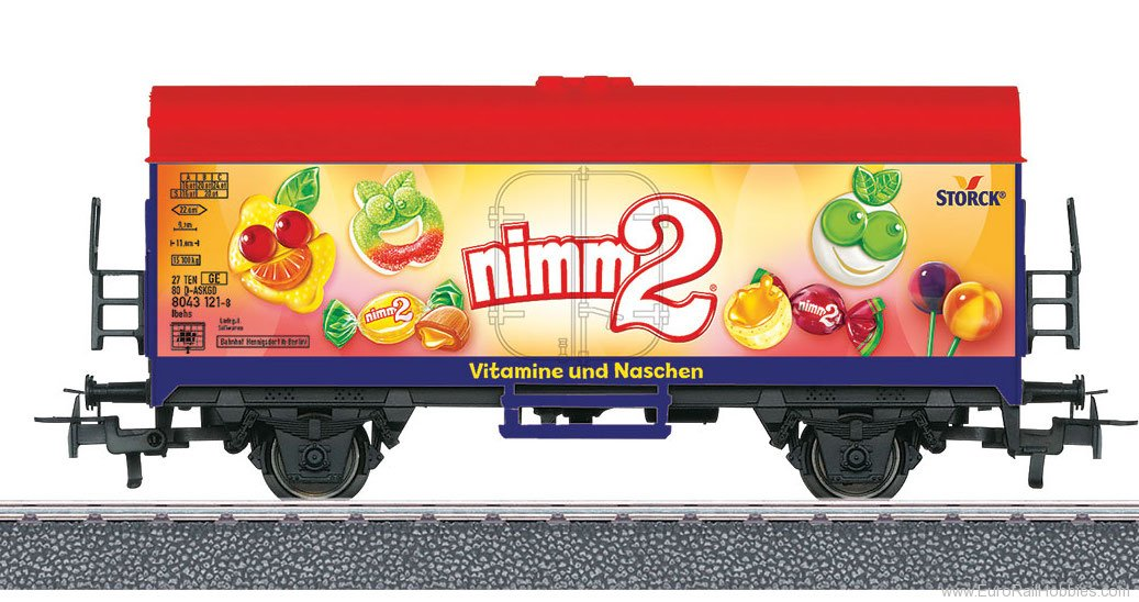 Marklin 44215 'Nimm 2' Refrigerator Car (Start up)