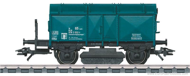 Marklin 46049 DB Track Cleaning Car in Blue Livery w/Washab