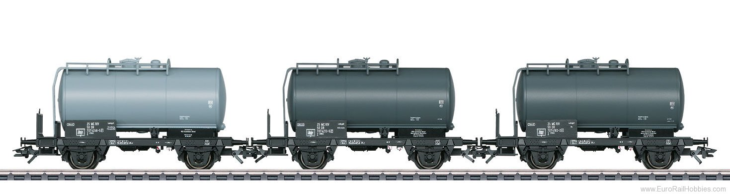 Marklin 46068 DR GDR, VEB Tank Car Set (2017 MHI Exclusiv I