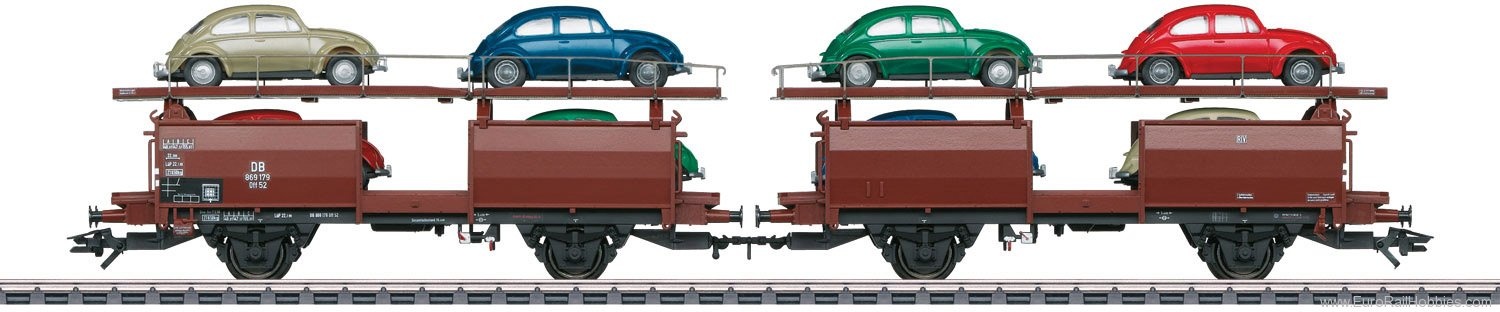 Marklin 46128 Type Off 52 Pair of Auto Transport Cars
