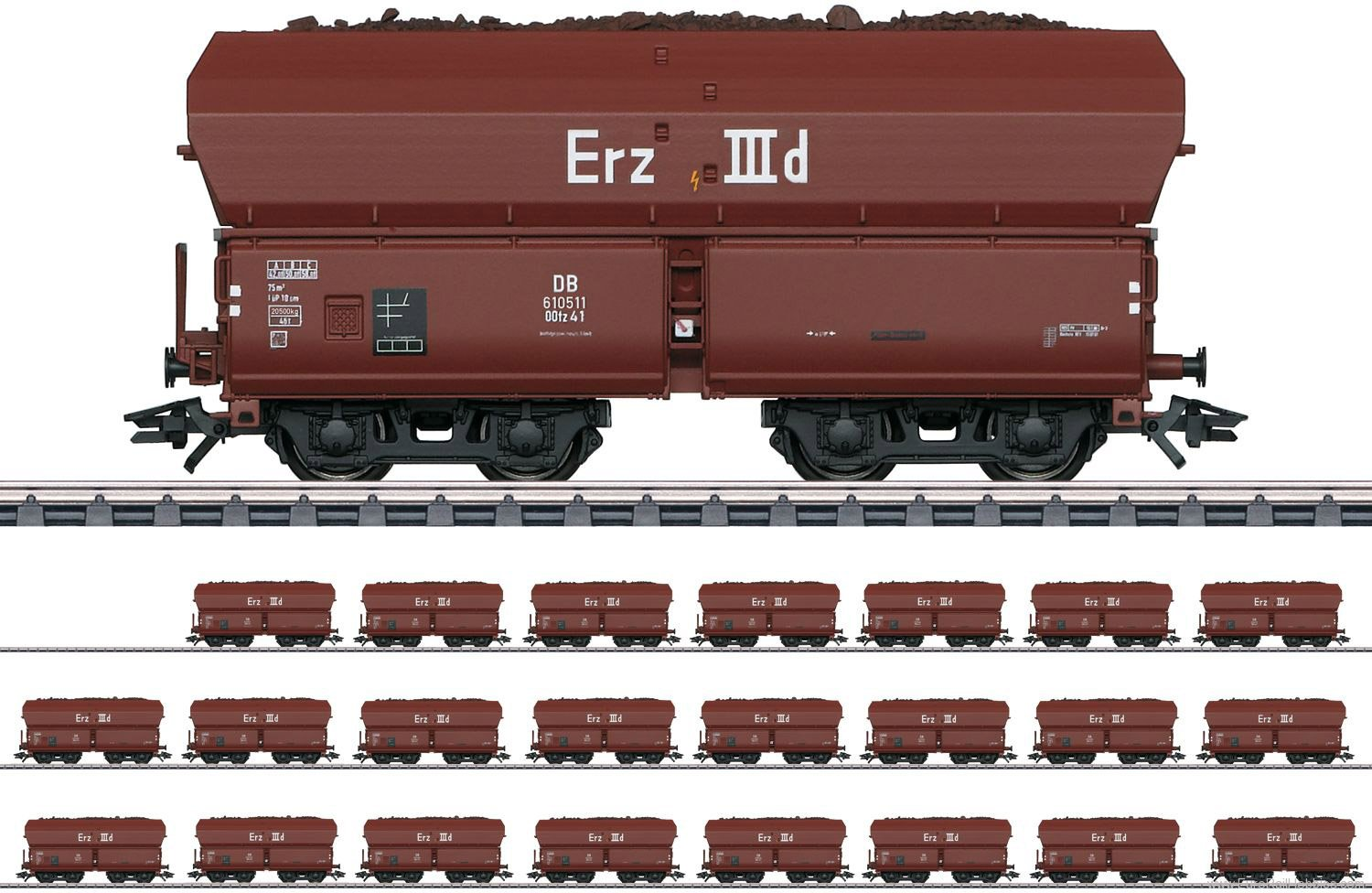 Marklin 46210 DB Type Erz IIId Hopper Car Display (24 Cars)