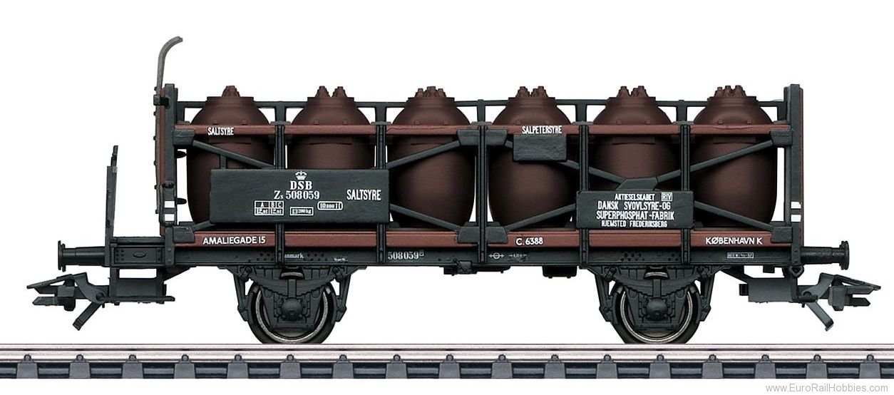 Marklin 46393 DSB Acid Transport Car w/Brakeman''s Platform