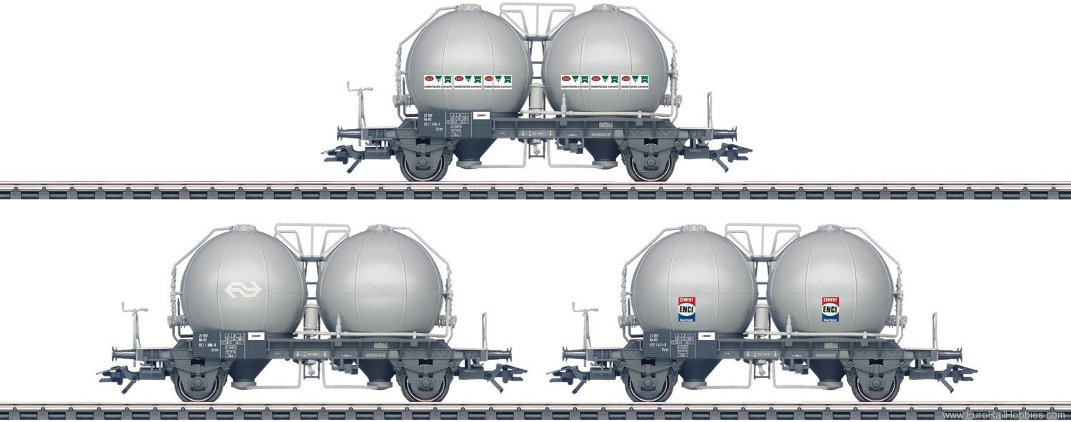Marklin 46626 Three Type Uces Spherical Container Cars