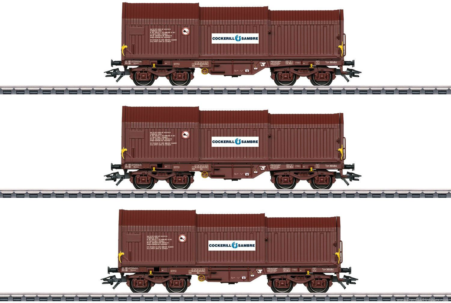 Marklin 46873 SNCB Freight Telescoping Cover 3-Car Set