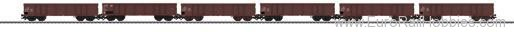 Marklin 46911 DR 5 Piece Gondola Freight Car Set