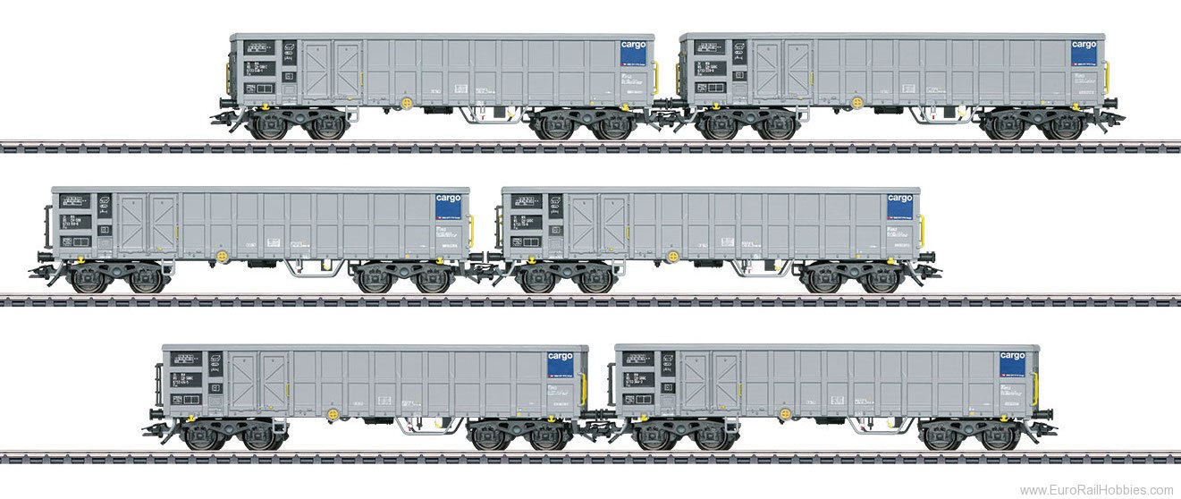 Marklin 46912 SBB Cargo Type Fas High-Side Gondola 6-Car Se