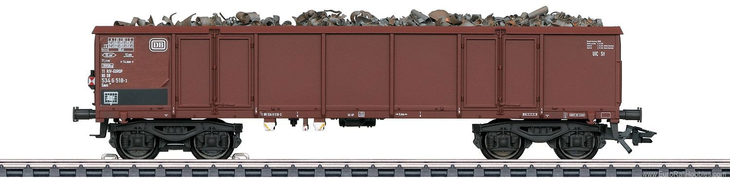 Marklin 46913 DB Type Eaos 106 Scrap Metal Freight Car with