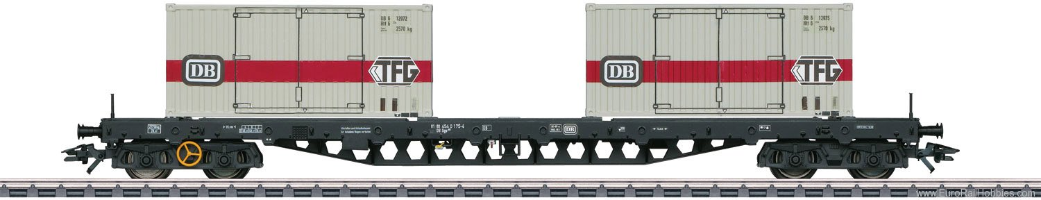 Marklin 47048 Type Sgs 693 Flat Car for Containers.