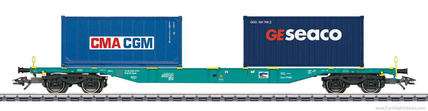 Marklin 47056 IFB Type Sgnss Container Transport Car