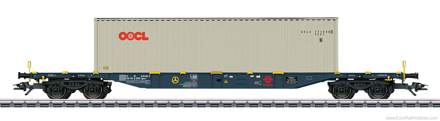 Marklin 47058 Type Sgnss Container Transport Car w/ 40' Con