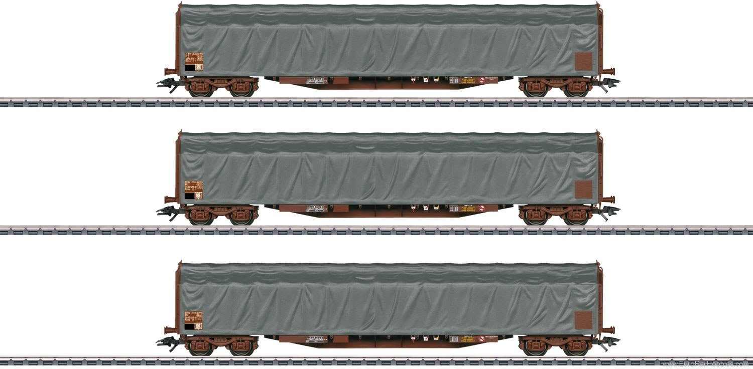 Marklin 47062 SNCF Type Rils Sliding Tarp Car Set (Factory