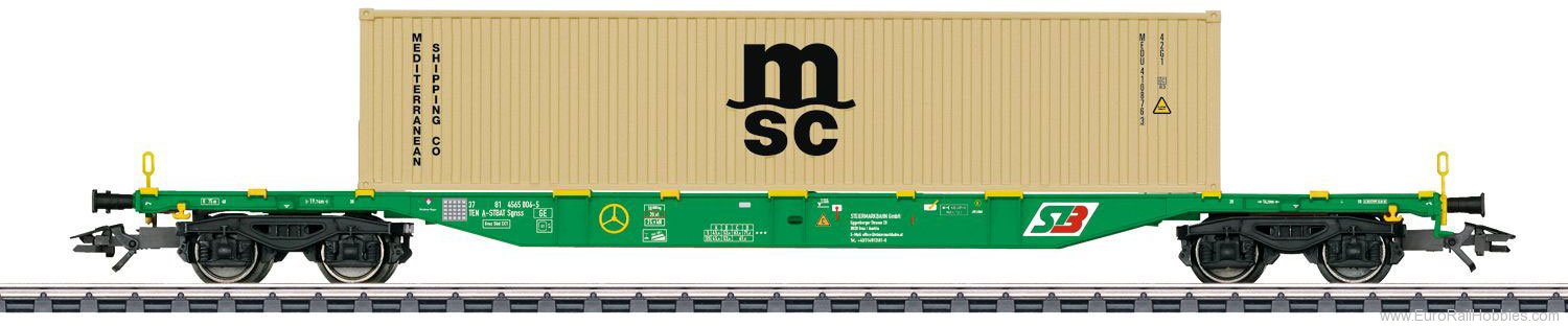 Marklin 47066 KLV Type Sgnss Container Transport Car