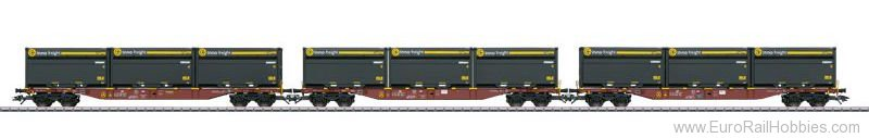 Marklin 47091 DB AG Three Type Sngss Container Transport Ca