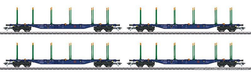 Marklin 47093 KLV Type Sgnss Transport 4-Car Set, Era VI