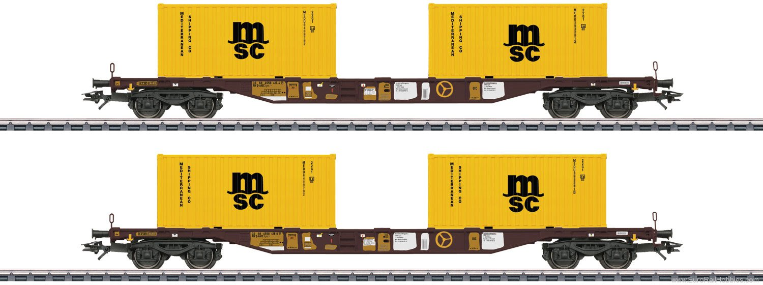 Marklin 47095 Type Sgns Container Transport Car Set