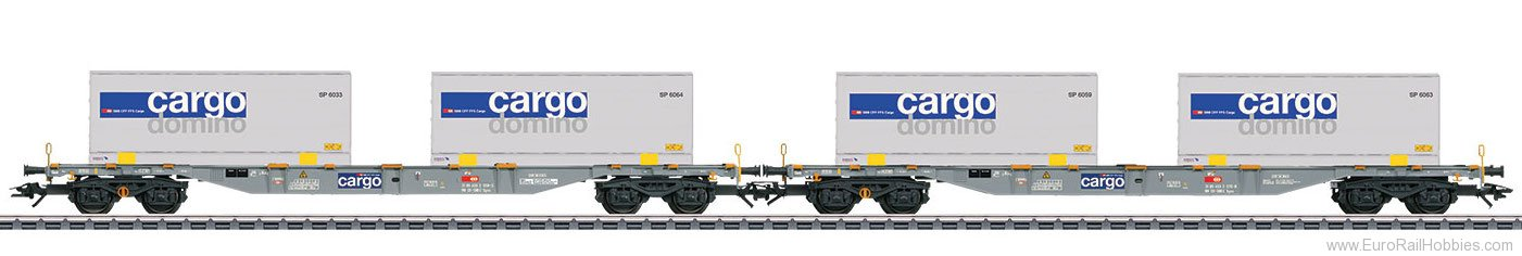 Marklin 47096 SBB Type Sgnss Container 2 Piece Flat Car Set