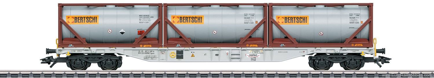 Marklin 47097 Type Sgnss Container Transport Car HUPAC