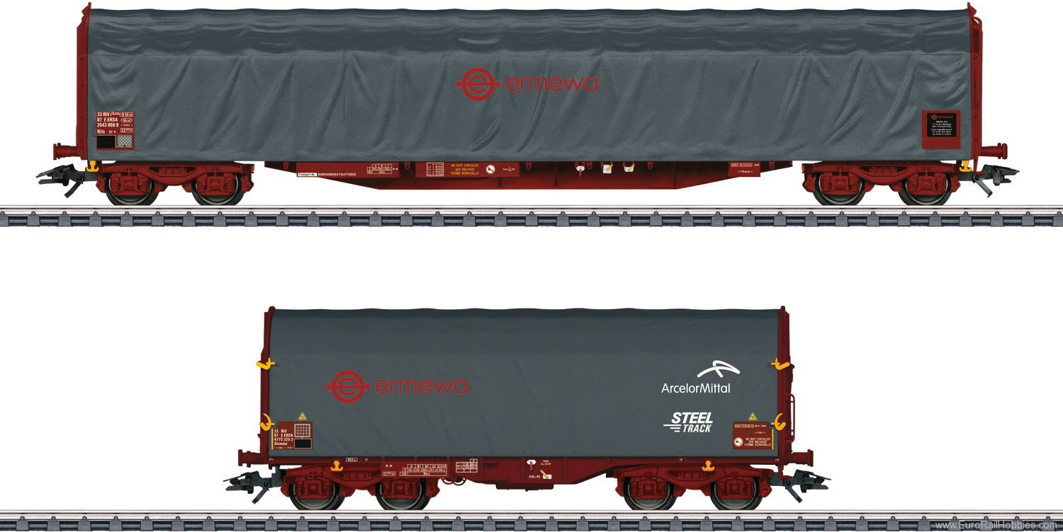 Marklin 47102 ''Ermewa'' Sliding Tarp Car Set