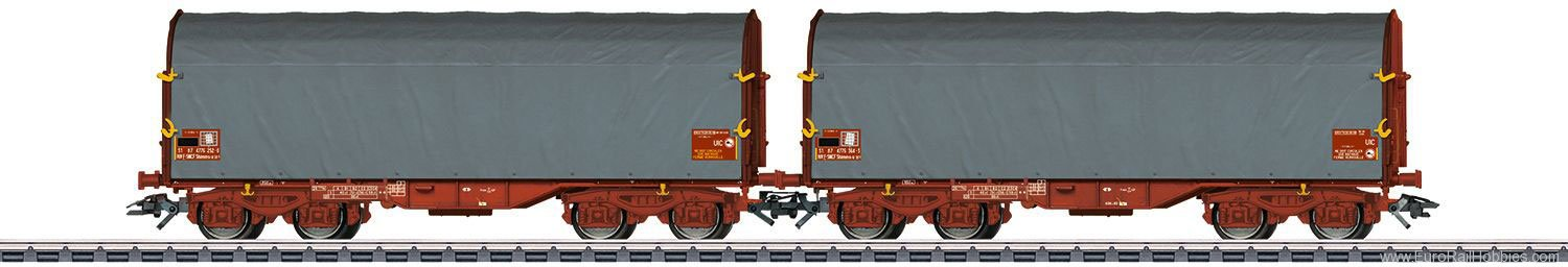 Marklin 47218 SNCF Sliding Tarp 2-Car Set