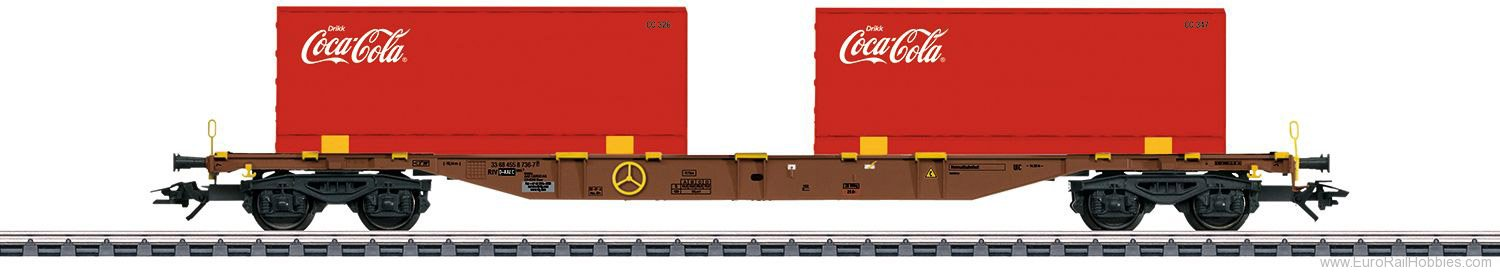 Marklin 47434 AAE Type Sgns Container Transport Car ''Coca-