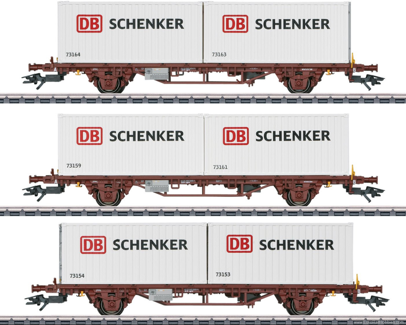 Marklin 47725 'DB Schenker' Container Transport 3-Car Set