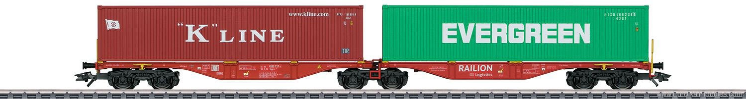 Marklin 47800 Railion DB Type Sggrss 80 Double Container Tr