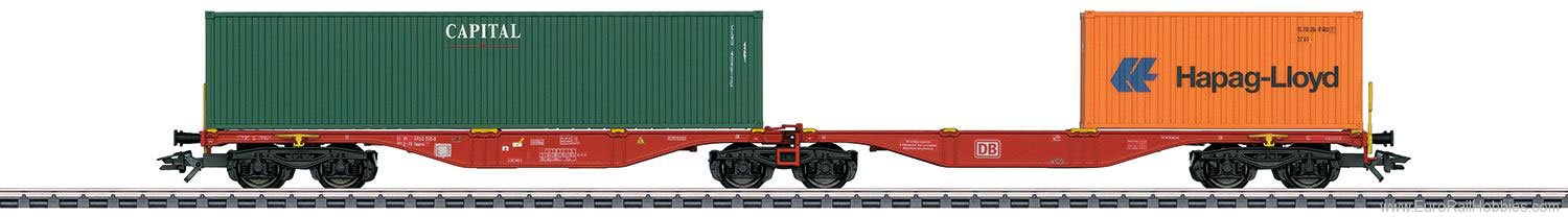 Marklin 47801 DB AG Type Sggrss 80 Double Container Transpo