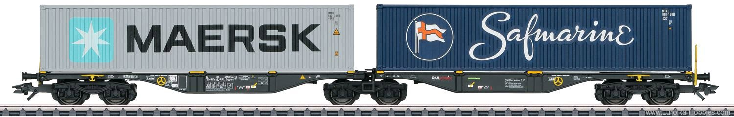 Marklin 47806 RailReLease Type Sggrss Double Container Tran