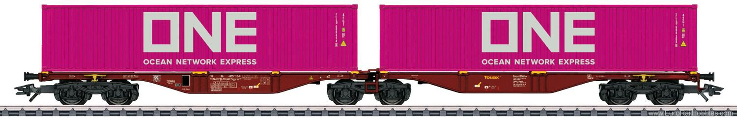 Marklin 47808 Touax Type Sggrss Double Container Transport