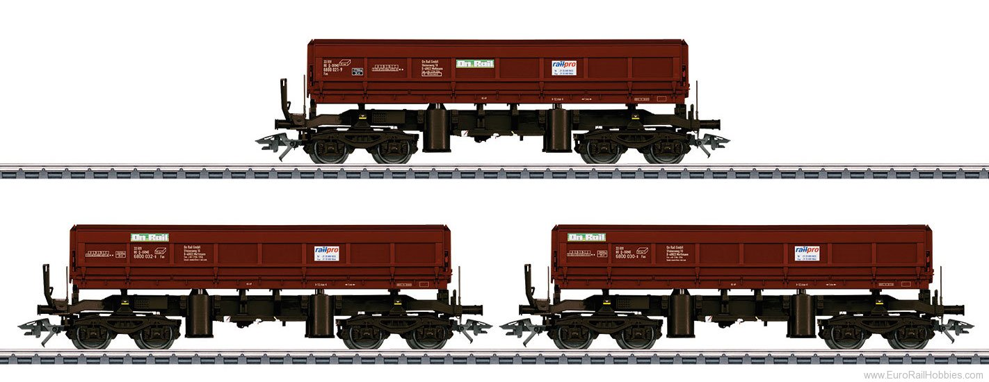 Marklin 48456 OR Type Fas 680 Bulk Freight Dump 3-Car Set