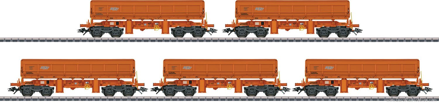 Marklin 48457 Type Eamos Side Dump Car Set