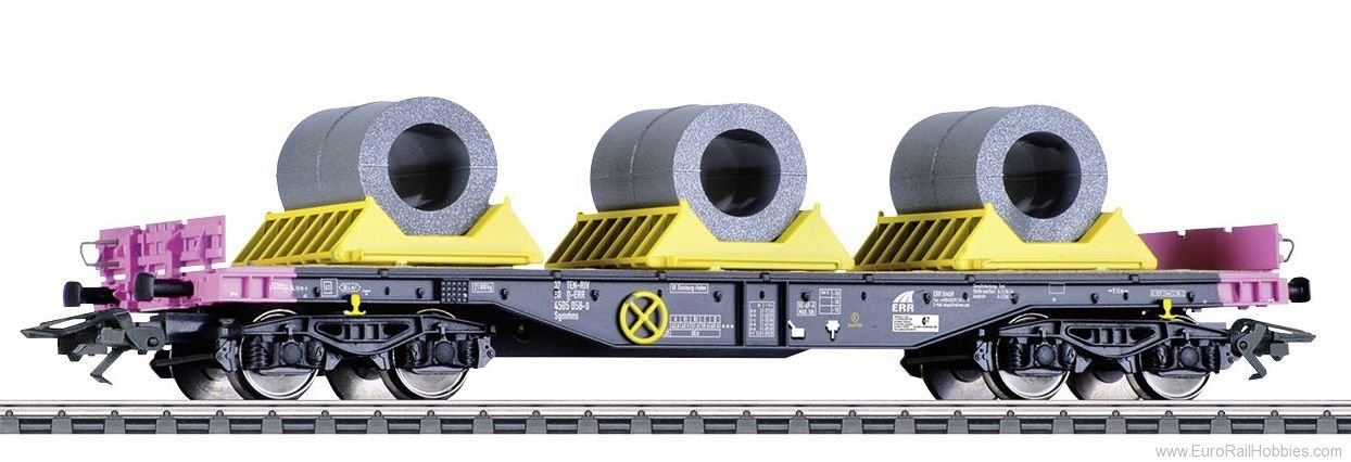 Marklin 48655 Heavy-Duty Flat Car with a Load of Coils