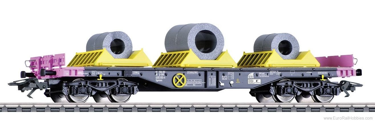 Marklin 48656 Heavy-Duty Flat Car with a Load of Coils