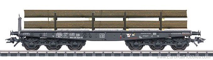 Marklin 48680 DB Type Ssym 46 Heavy-Duty Flat Car with Stee