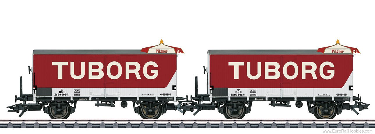 Marklin 48777 DSB ''Tuborg'' Type ZB Beer 2-Car Set