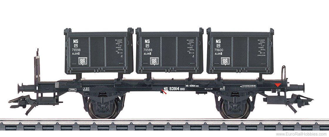 Marklin 48949 NS Type Bt 10 Container Transport Car, Era II